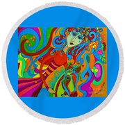 Carousel Dance 2016 Round Beach Towel