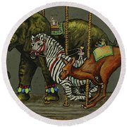 Carousel Kids 6 Round Beach Towel