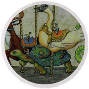 Carousel Kids 5 Round Beach Towel