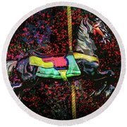 Carousel Number 16 Round Beach Towel