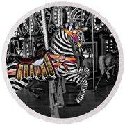 Carousel Zebra Series 2222 Round Beach Towel