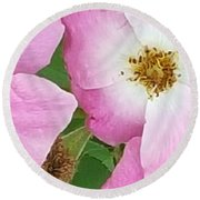 Carpet Of Pink Round Beach Towel