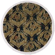 Textile Tapestry Carpet With The Arms Of Rogier De Beaufort Round Beach Towel