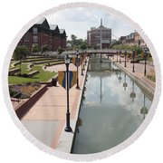 Carroll Creek Park In Frederick Maryland Round Beach Towel
