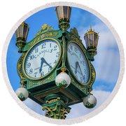 Carrolls Jewelers Clock Round Beach Towel