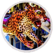 Carrousel Cheetah Round Beach Towel