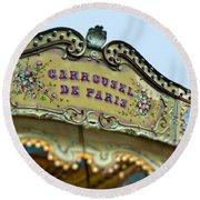Carrousel De Paris Round Beach Towel