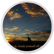 Carry On Sunrise Round Beach Towel