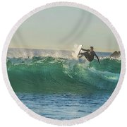 Carsbad Surfer Cutting In Round Beach Towel