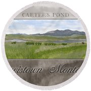 Round Beach Towel featuring the digital art Carter's Pond by Susan Kinney