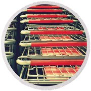 Carts Round Beach Towel