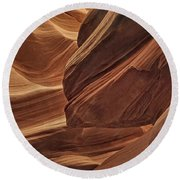 Carved By Water Dist Round Beach Towel