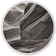 Carved By Water Tnt Round Beach Towel