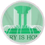 Cary Fountain Round Beach Towel