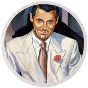 Cary Grant Round Beach Towel