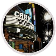 Cary Theater Round Beach Towel