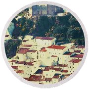 Casares Espana - Castle Of The Moors Round Beach Towel