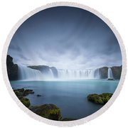 Cascade Of The Gods Round Beach Towel