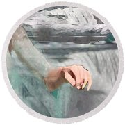 Round Beach Towel featuring the digital art Cascade by Steve Karol