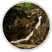 Cascades Of Summer Round Beach Towel