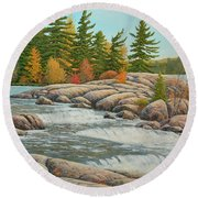 Cascading Flow Round Beach Towel