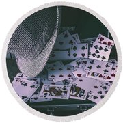 Case Of A Gambling Pro  Round Beach Towel