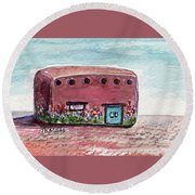 Case Pastel De Ludwig Round Beach Towel
