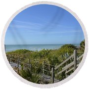 Round Beach Towel featuring the photograph Casey Key by Carol Bradley