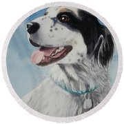 Casey Round Beach Towel by Marilyn Jacobson