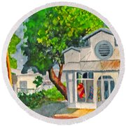 Caseys Place Round Beach Towel by Eric Samuelson