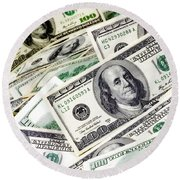 Cash Money Round Beach Towel