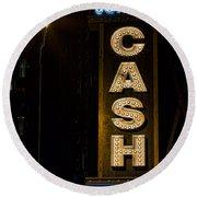 Cash Round Beach Towel by Stephen Stookey