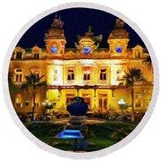 Casino Monte Carlo Round Beach Towel