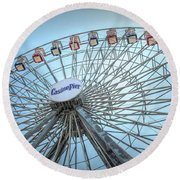 Casino Pier Ferris Wheel Round Beach Towel