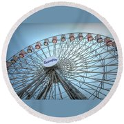 Casino Pier Ferris Wheel Round Beach Towel