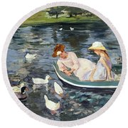 Cassatt: Summertime, 1894 Round Beach Towel