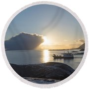 Cast A Giant Shadow... Reine Lofoten Round Beach Towel