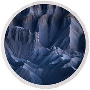Round Beach Towel featuring the photograph Castle Blue by Dustin LeFevre