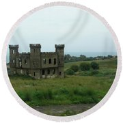 Castle Catania Sicily Round Beach Towel