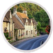 Castle Combe High Street Round Beach Towel
