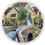 Castle Combe Round Beach Towel by Roxy Rich