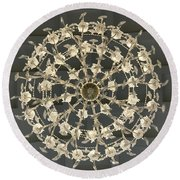 Castle Front Hall 02 Round Beach Towel