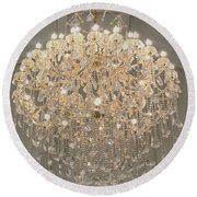 Castle Front Hall 01 Round Beach Towel