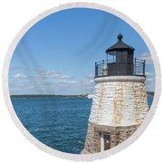 Castle Hill Lighthouse Newport Rhode Island Round Beach Towel by Brian MacLean