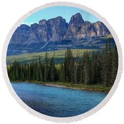 Castle Mountain, Ab  Round Beach Towel by Heather Vopni