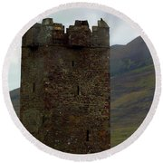 Castle Of The Pirate Queen Round Beach Towel