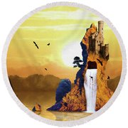 Castle Rising Round Beach Towel
