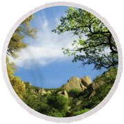 Castle Rock Round Beach Towel by Donna Blackhall