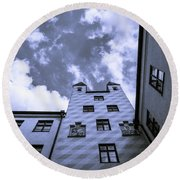 Round Beach Towel featuring the photograph Castle by Sergey Simanovsky