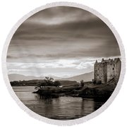 Castle Stalker 1 Round Beach Towel by Niels Nielsen